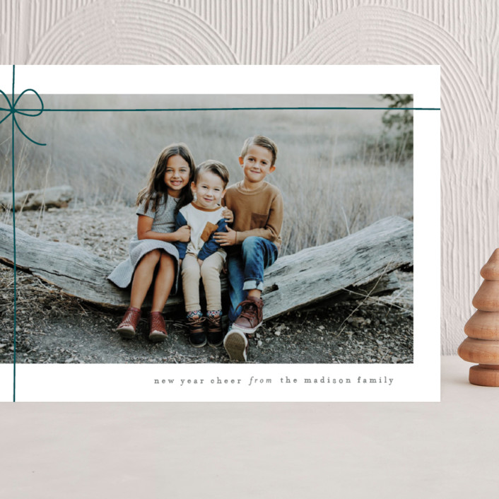 """""""Gift Wrapped"""" - Grand Holiday Cards in Emerald by Lauren Chism."""