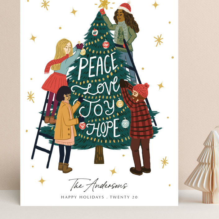"""""""Better Together"""" - Bohemian Grand Holiday Cards in Snow by Elly."""