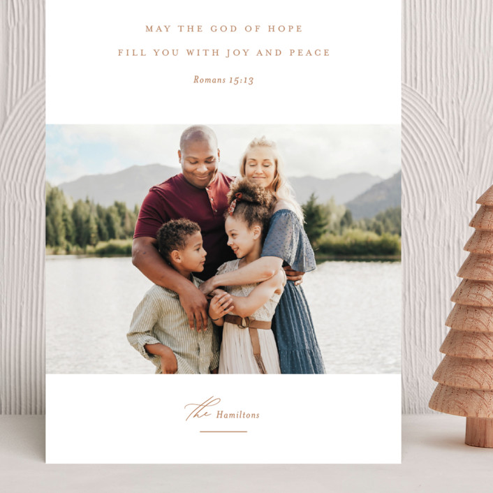 """""""Romans 15:13"""" - Grand Holiday Cards in Golden by Jessica Williams."""
