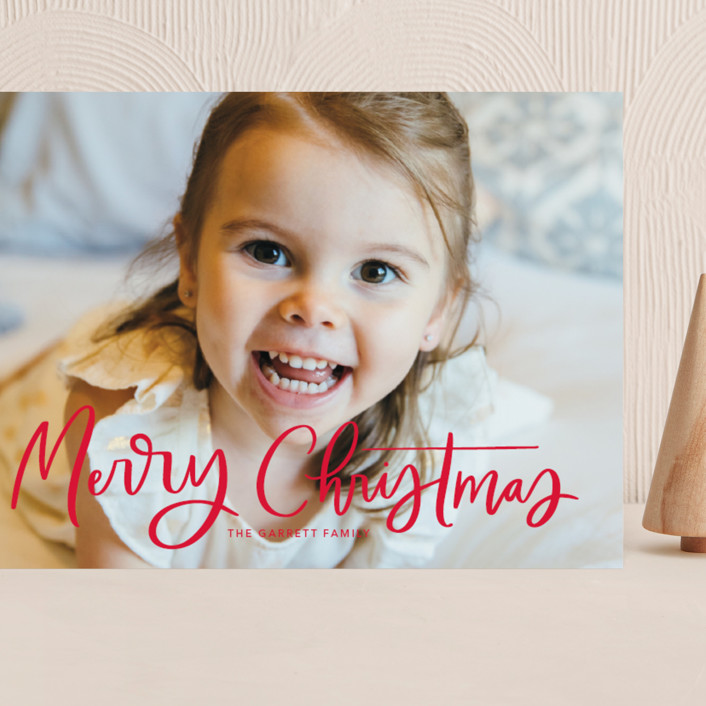 """""""Modern Merry Greeting"""" - Grand Holiday Cards in Apple by Kristen Smith."""