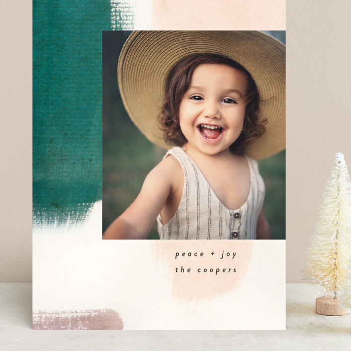 """""""Holiday Hues"""" - Modern Grand Holiday Cards in Forest by Lindsay Megahed."""