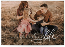 This is a white holiday photo card by chocomocacino called zucotto with standard printing on smooth signature in grand.
