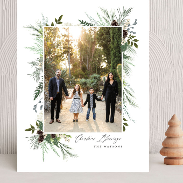 """""""Nature & Blessings"""" - Grand Holiday Cards in Juniper by Susan Moyal."""