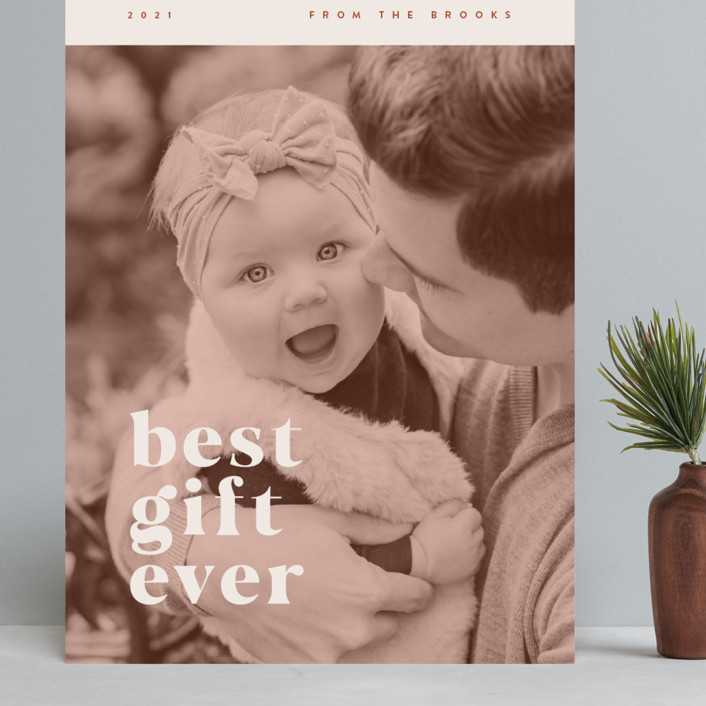 """""""our best gift ever"""" - Grand Holiday Cards in Chocolate by Anastasia Makarova."""