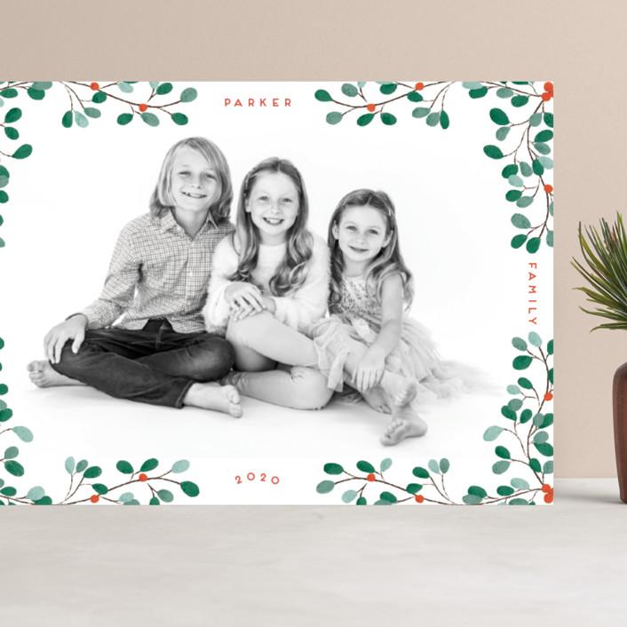 """""""A little Mistletoe"""" - Grand Holiday Cards in Mistletoe by Gwen Bedat."""