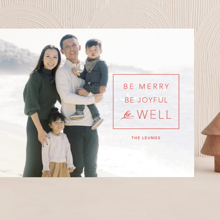 """""""be well box"""" - Grand Holiday Cards in Berry by Alaina Cherup."""