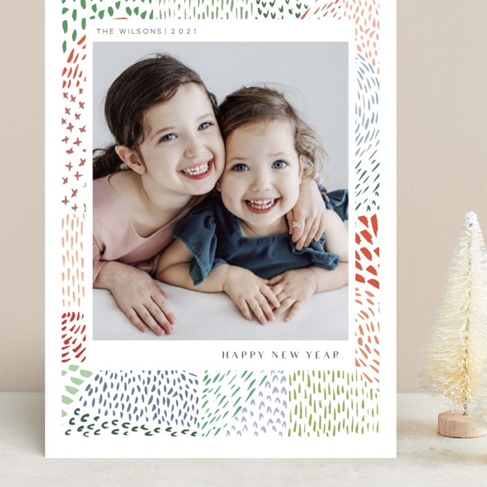 """""""Merry Marks"""" - Grand Holiday Cards in Holly by Kelly Ventura."""