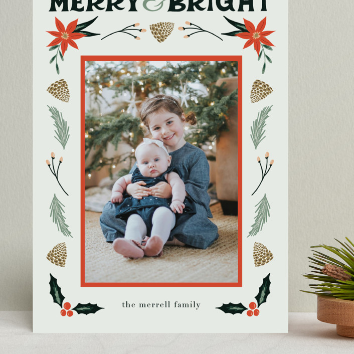 """Merry, Bright"" - Grand Holiday Cards in Fog by Amanda Houston."