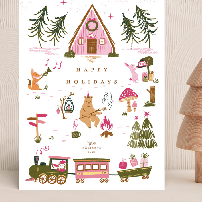 """Woodland Wonderland"" - Vintage Grand Holiday Cards in Candy by Vivian Yiwing."