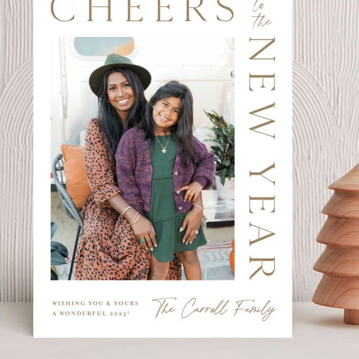 """""""New Years Wrap"""" - Grand Holiday Cards in Wheat by Kristen Smith."""