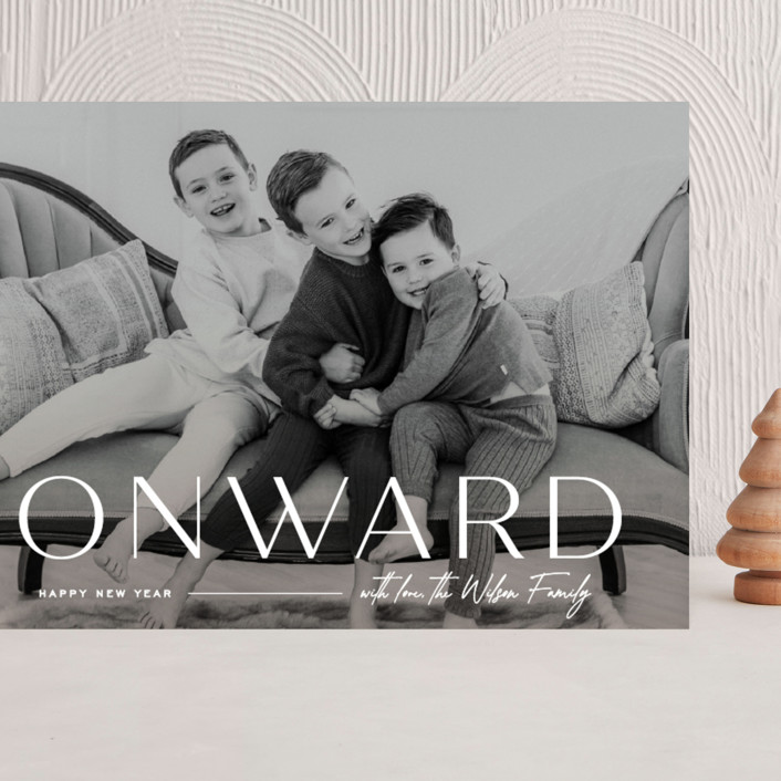 """""""Onward"""" - Grand Holiday Cards in Icing by Owl and Toad."""