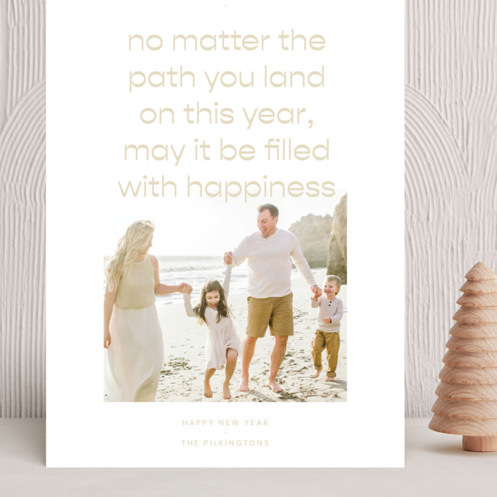 """""""Paths"""" - Grand Holiday Cards in Sand by Blustery August."""