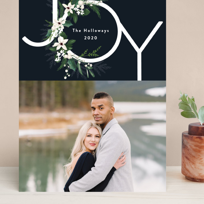 """Joy & Greenery"" - Grand Holiday Cards in Juniper by Susan Moyal."