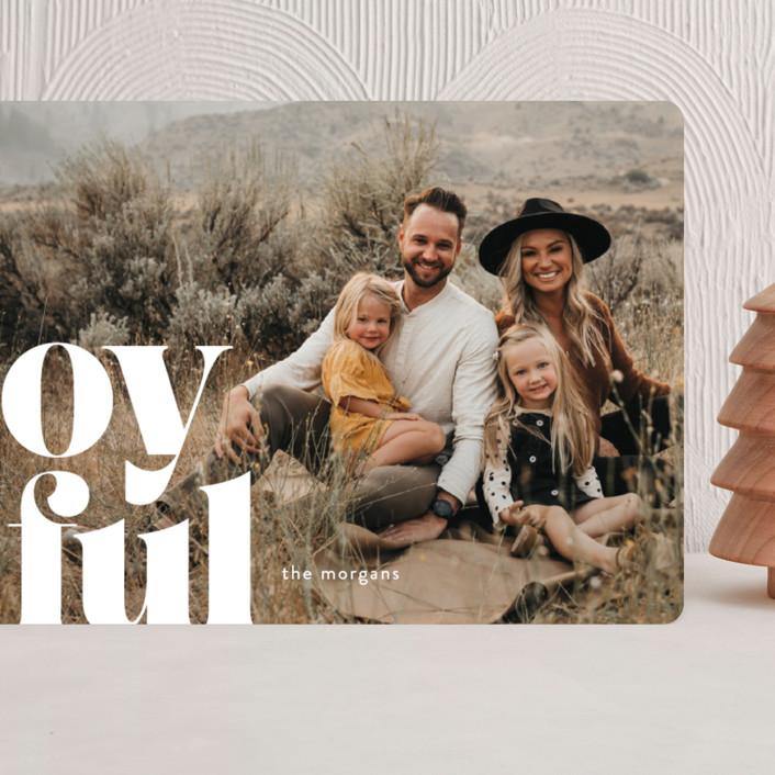 """Joyfully Bold"" - Grand Holiday Cards in Snow by Ann Gardner."