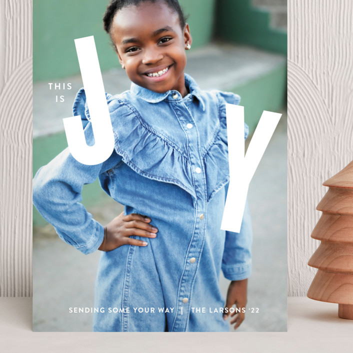 """""""THIS"""" - Grand Holiday Cards in Snow by Lauren Chism."""