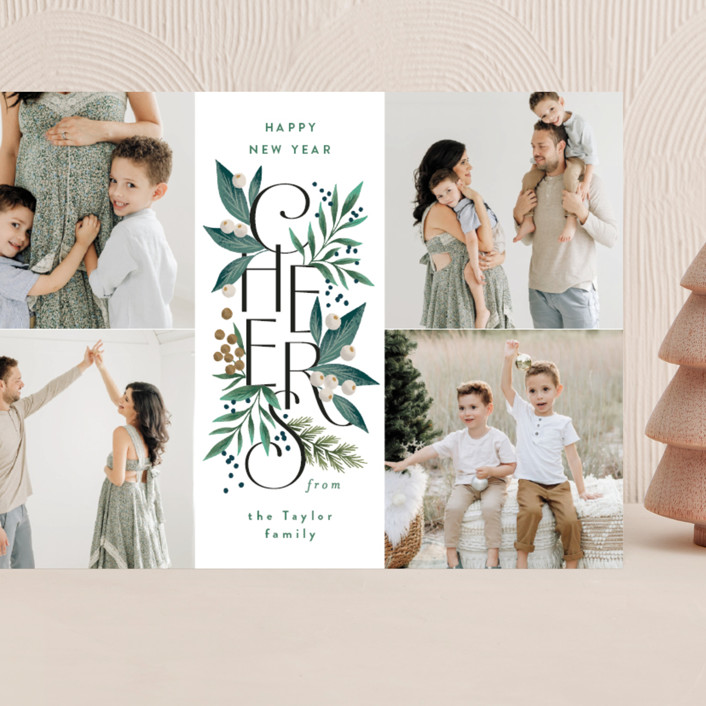 """""""Cheer Greens"""" - Grand Holiday Cards in Pine by Alethea and Ruth."""