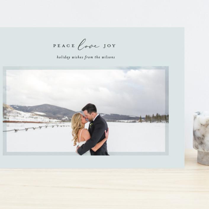 """Serene Frame"" - Grand Holiday Cards in Ice by Ekko Studio."