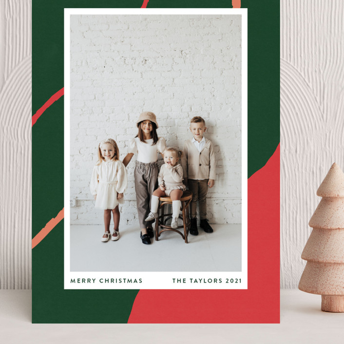 """""""chasm"""" - Modern Grand Holiday Cards in Evergreen by Robin Ott."""