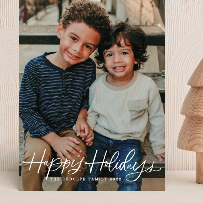 """""""holiday brush"""" - Grand Holiday Cards in Sugar by Kristen Smith."""