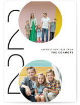 This is a white holiday photo card by Ashley Hegarty called Viginti with standard printing on smooth signature in grand.