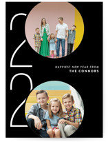 This is a black holiday photo card by Ashley Hegarty called Viginti with standard printing on smooth signature in grand.