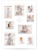This is a grey holiday photo card by Hooray Creative called Modern Snapshots with standard printing on smooth signature in grand.