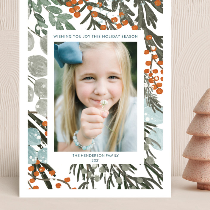 """""""Vintage Winterberry"""" - Grand Holiday Cards in Vintage by Angel Walker."""