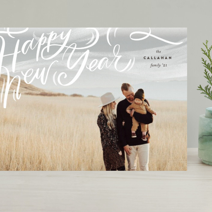"""Windswept"" - Bohemian Grand Holiday Cards in Cocao by Julie Murray."