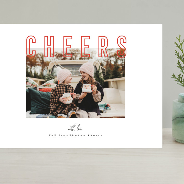 """""""Joyful & Peaceful"""" - Grand Holiday Cards in Candy Cane by Juliana Zimmermann."""