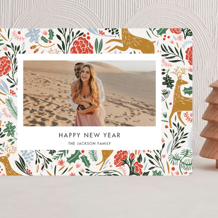 """Holiday Forest Photo"" - Bohemian Grand Holiday Cards in Jour by Made by Mosa."
