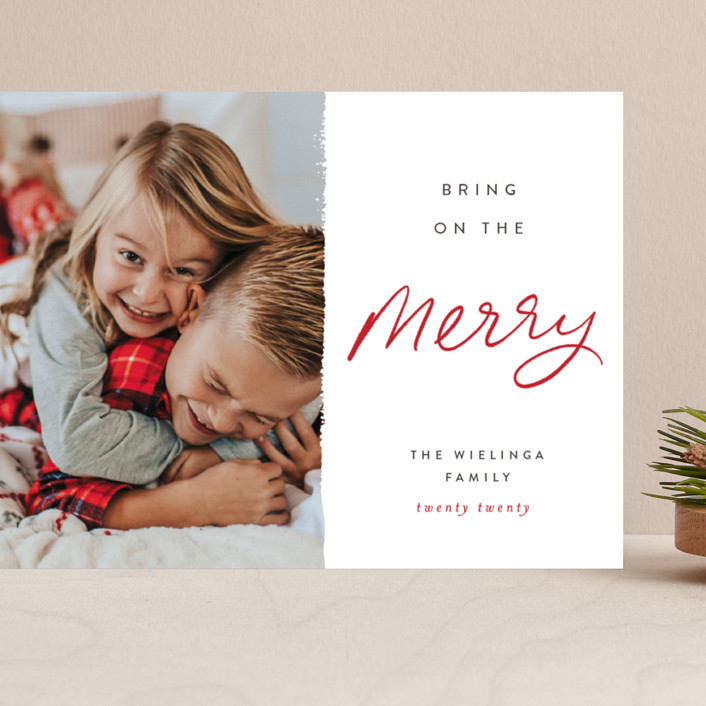 """""""Be the Merry"""" - Grand Holiday Cards in Merry by Pixel and Hank."""