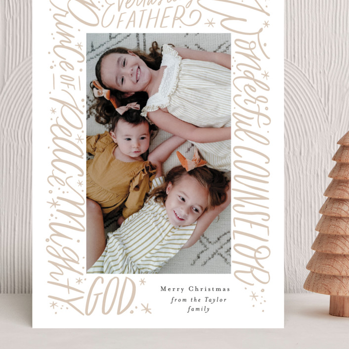 """""""He will be called"""" - Grand Holiday Cards in Gingerbeard by Alethea and Ruth."""