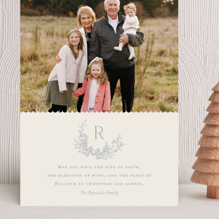 """""""Laurel"""" - Grand Holiday Cards in Bluebell by Vanessa Doyle."""