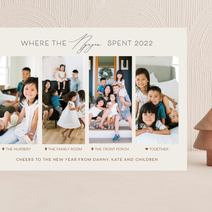 """""""Together Is Our Favorite Place"""" - Funny Grand Holiday Cards in Spice by Carolyn Kach."""