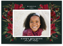 This is a green holiday photo card by Lori Wemple called Holiday with standard printing on smooth signature in grand.