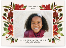 This is a red holiday photo card by Lori Wemple called Holiday with standard printing on smooth signature in grand.