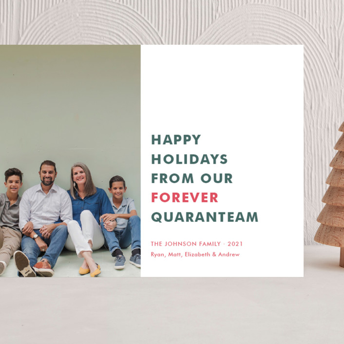 """The Quaranteam"" - Funny Grand Holiday Cards in Stocking by Toast & Laurel."