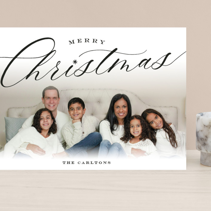 """""""Christmastide"""" - Grand Holiday Cards in Onyx by Sarah Curry."""