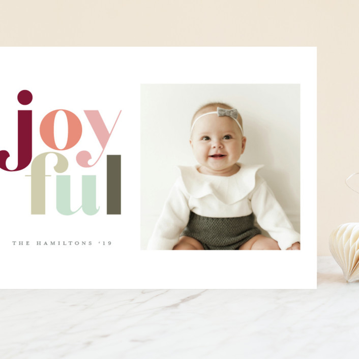 """""""Festive joyful"""" - Grand Holiday Cards in Spice by Hudson Meet Rose."""