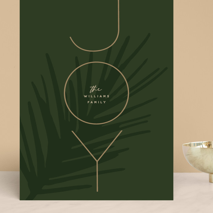 """""""Joy stacked"""" - Grand Holiday Cards in Forest Green by Susan Brown."""