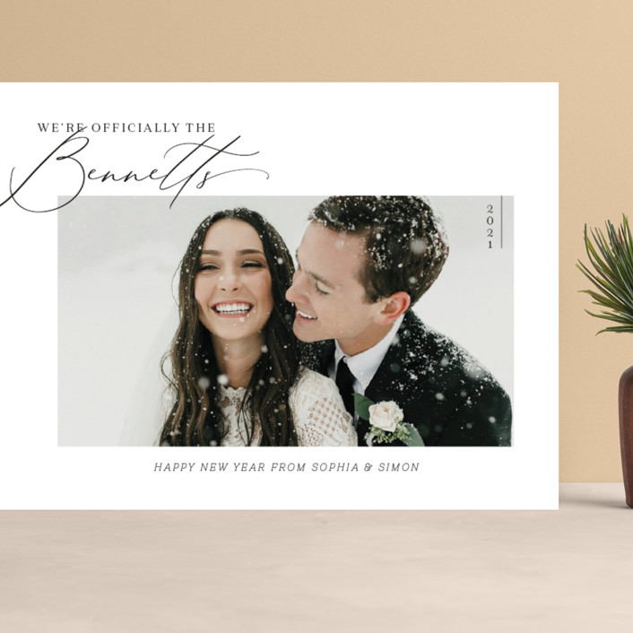 """""""Officially Official"""" - Grand Holiday Cards in Tuxedo by Carolyn Kach."""