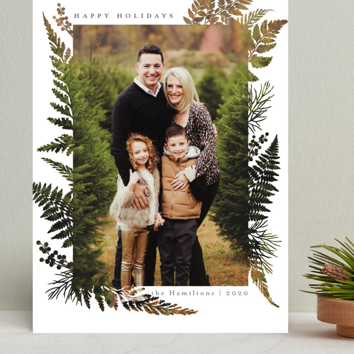 """""""Christmas Blessings"""" - Modern Grand Holiday Cards in Coal by Caitlin Considine."""