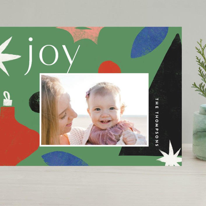 """""""Cut Tree"""" - Modern Grand Holiday Cards in Pine by Amy Kross."""