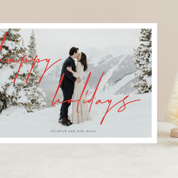 """""""the edit"""" - Grand Holiday Cards in Crimson by Sara Hicks Malone."""