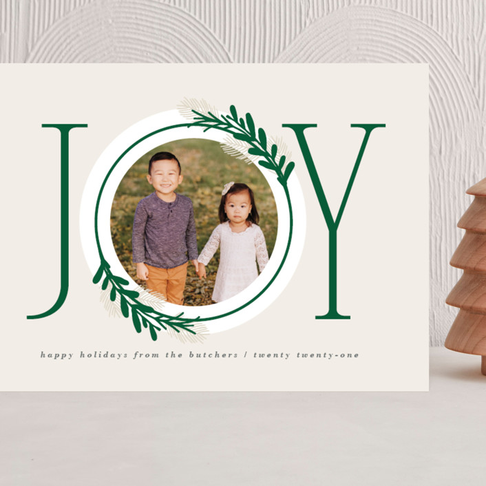 """""""Center Joy"""" - Grand Holiday Cards in Pine by JeAnna Casper."""