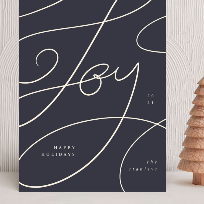 """""""Joy lettering"""" - Grand Holiday Cards in Jam by Kann Orasie."""