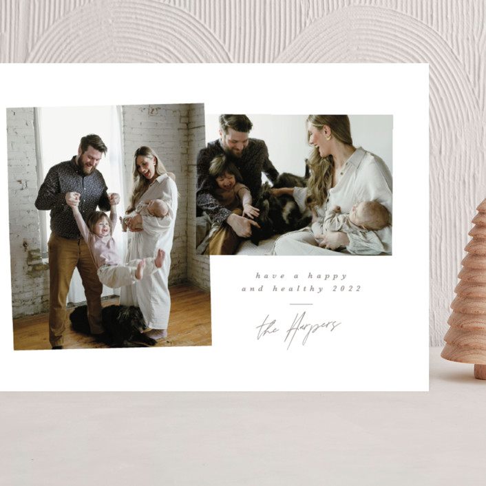 """""""Mix and Match"""" - Grand Holiday Cards in Ash by Ink and Letter."""