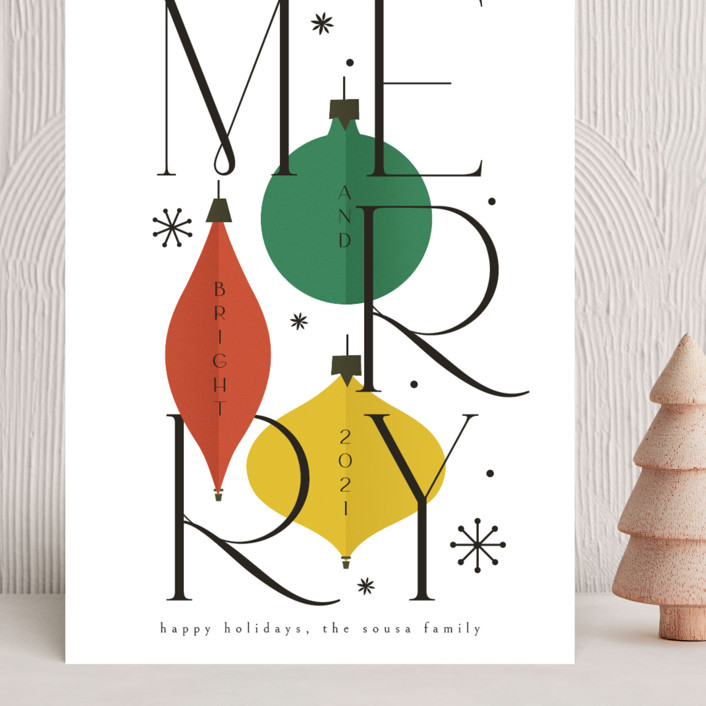 """""""Merry&Bright"""" - Grand Holiday Cards in Snow by Ana de Sousa."""