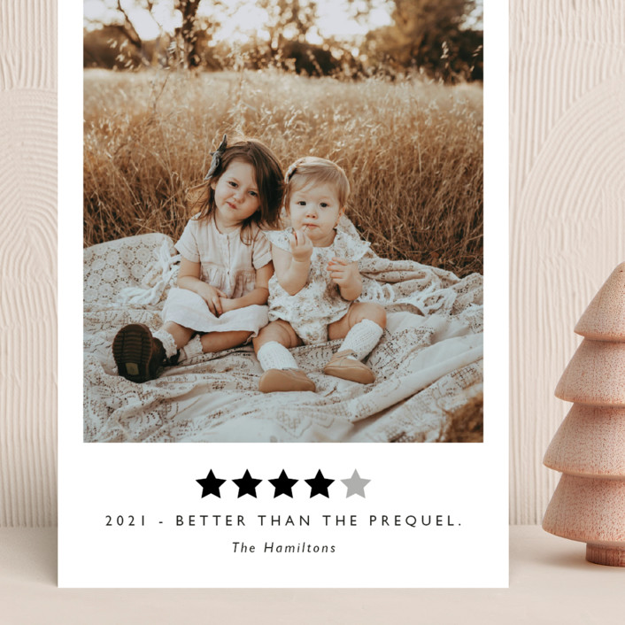 """""""Rating 2020"""" - Funny Grand Holiday Cards in Snow by Caitlin Considine."""