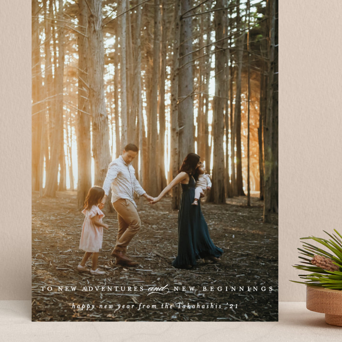 """""""New Adventures and New Beginnings"""" - Grand Holiday Cards in Snow by Mansi Verma."""